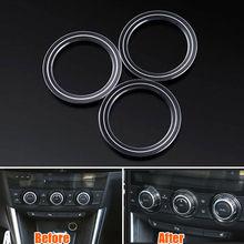 3x центр консоли интерьер Авто AC Управление переключатель ручку крышки отделкой Стикеры подходит для Mazda 6 Atenza CX-5 стайлинга автомобилей аксессуары