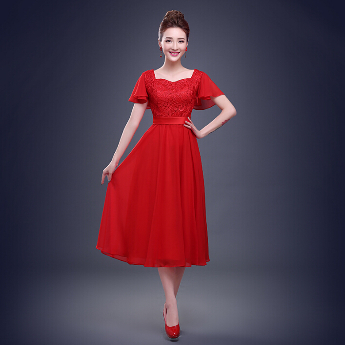 Long Sleeve Mid Length Formal Dresses Fashion Dresses