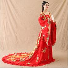 Oriental Asian Improve Traditional costume Ancient Chinese Hanfu Outfit Fairy Deluxe Classical Royal Court Princess Adult Dress