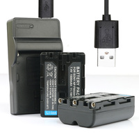 LANFULANG NP FM500H NP FM500H Battery (2 Pack) and Charger for Sony Alpha Digital SLR Cameras
