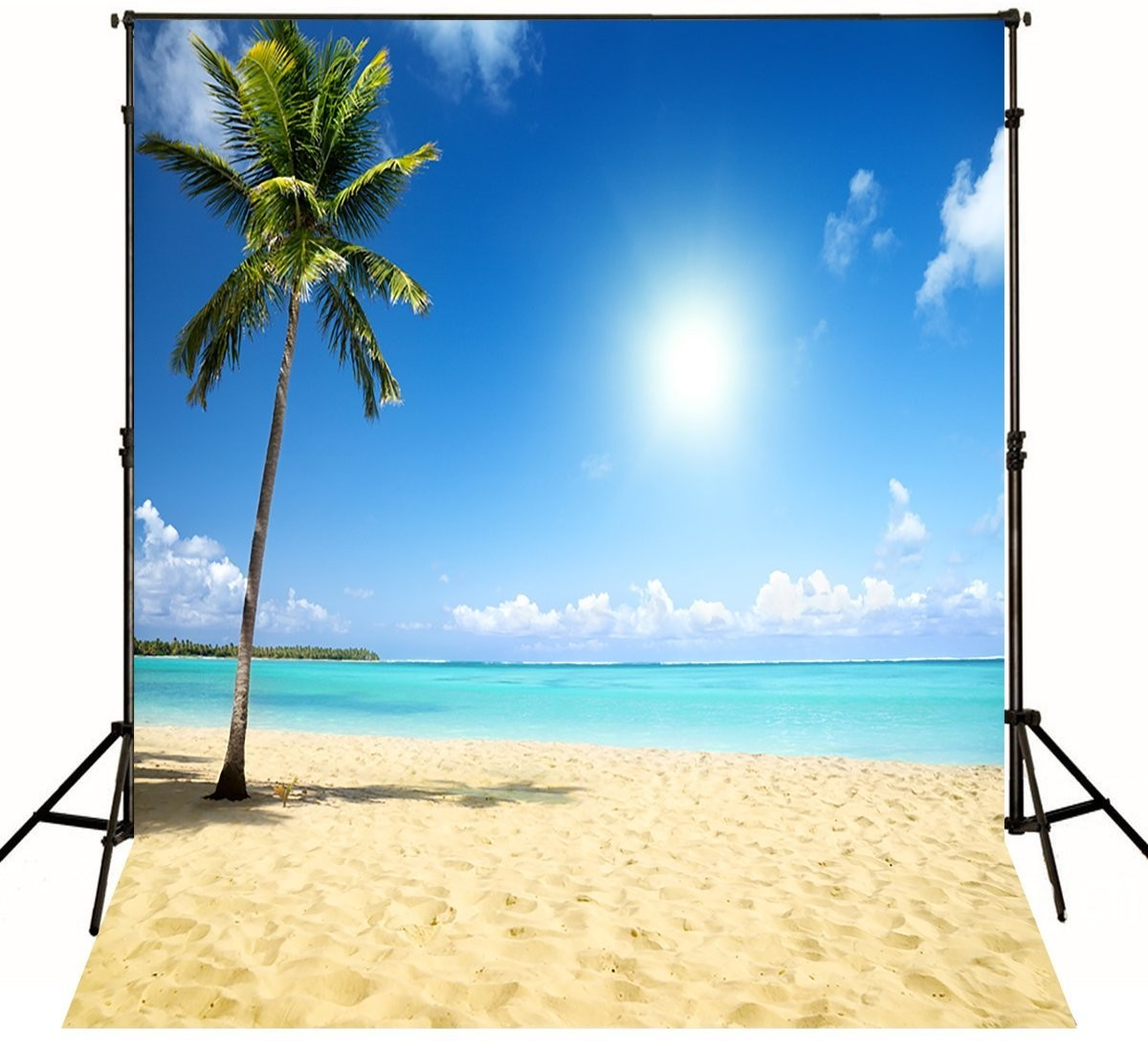 Sea Sand Tropical Beach photo backdrop  Vinyl cloth High quality Computer printed Wedding Backgrounds