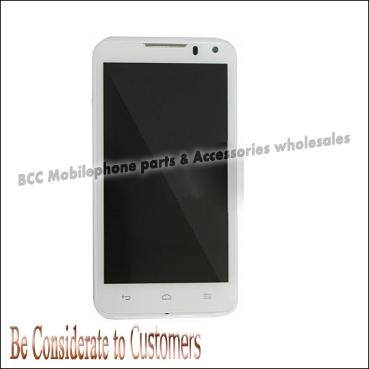 ФОТО 100% Original  LCD Screen+Touch Screen digitizer panel with Bezel frame for Huawei Ascend D1 U9500 Full Set White/Black Test ok