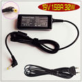 Para acer aspire one d255 d257 d260 d270 19 v 1.58a laptop ac adapter charger power supply cord