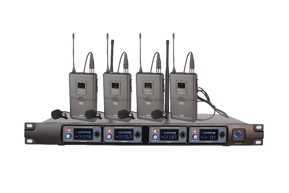 wireless microphone 4 pack receivers wireless in ear monitor system professional 4 channels. Black Bedroom Furniture Sets. Home Design Ideas