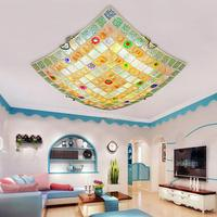 Mão Artesanato Conchas Do Mar Mediterrâneo Superfície Montado Levou Luz de Teto para Bed Room Varanda Foyer Luminárias AC 90  260 v Y1007|ceiling light fixture|light fixtures|ceiling lights -