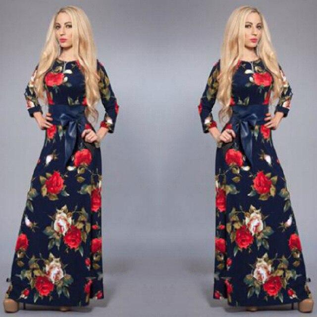 8dc71a99b40 Las mujeres Del Verano Maxi Vestidos Largos Casual Imprimir Boho Playa  Vestido Modal Vestido de Tirantes