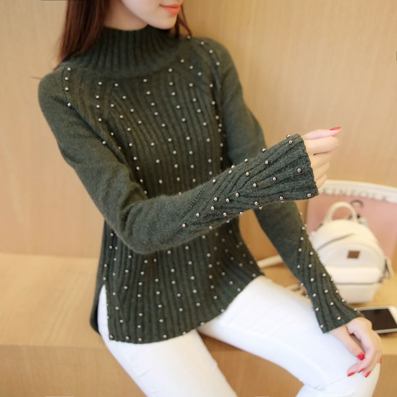 4361 - 2016 new autumn Korean Beaded sweater 68 ...