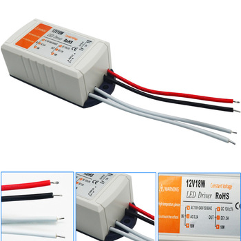Dreaminglight DC 12V 18W Power Supply LED Driver Adapter