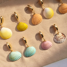 2019 Bohemia Beach Style Natural Shell Earrings for Women European Statement Gold Drop Earring Wedding Party Fashion Jewelry цена