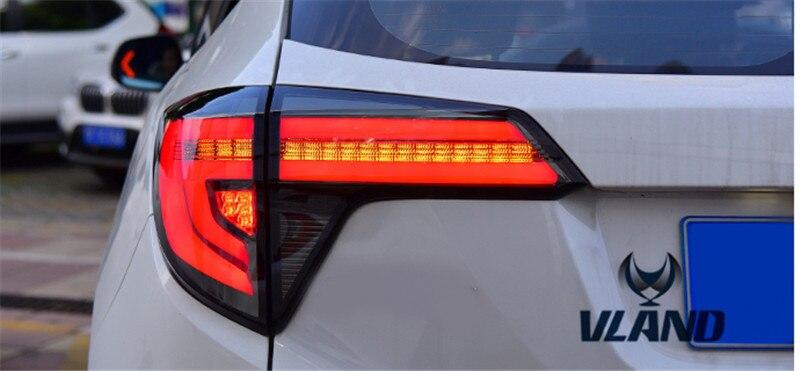 VLAND производитель для автомобиля задний фонарь для HRV задний фонарь 2014 2017 для Vezel светодиодный задний фонарь plug and play дизайн задний свет