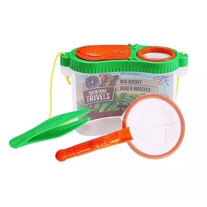 Brand New 3pc Educational Kids Backyard Catching Kit Catch & Store Tweezers A Fun Toy Even Has A Removable Top With Air Holes