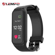 Lemfo L38I Bluetooth Smart Band динамического сердечного ритма Мониторы полноцветный TFT-LCD Экран smartband для IOS Android-смартфон