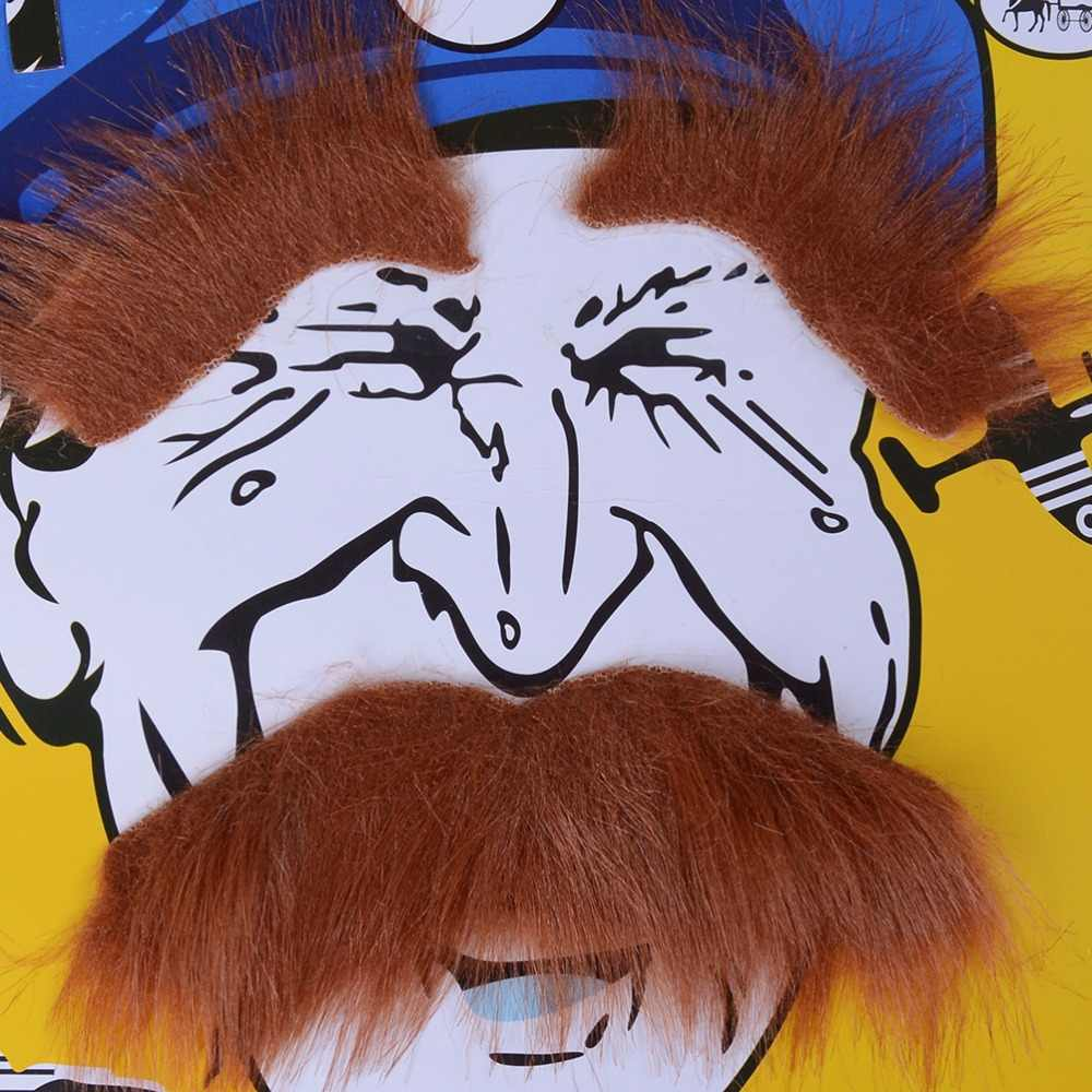 GETTO 1 Set Baffi Decorazione Del Partito Hot Divertente Del Partito Del Costume di Halloween Barba Facciale Dei Capelli Travestimento 5 Colori
