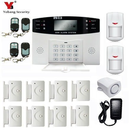 YobangSecurity Wireless Wired GSM Home Security Alarm System Russian Czech Voice Prompt Burglar Alarm System with PIR Detector