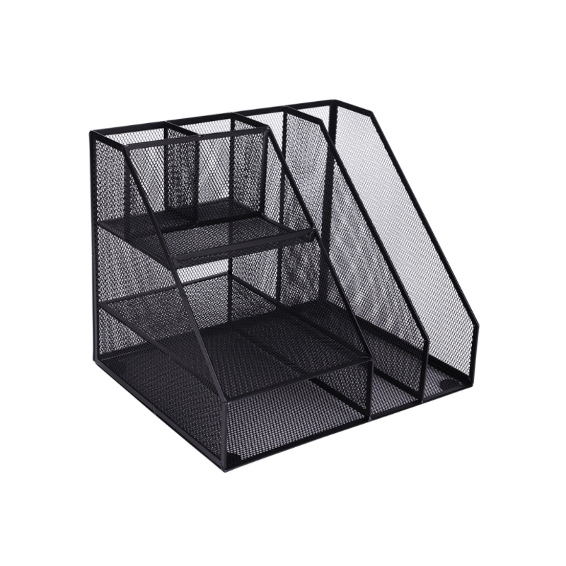 Home Office Desktop Office storage File Rack Organizer Sorter Black Metal Mesh alphonse daudet