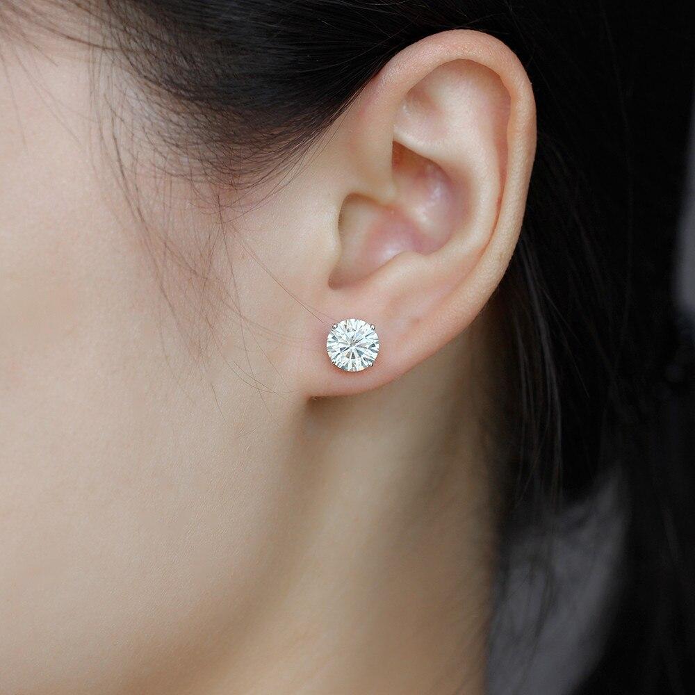 blue moissanite stud earring E-44-8 (3)