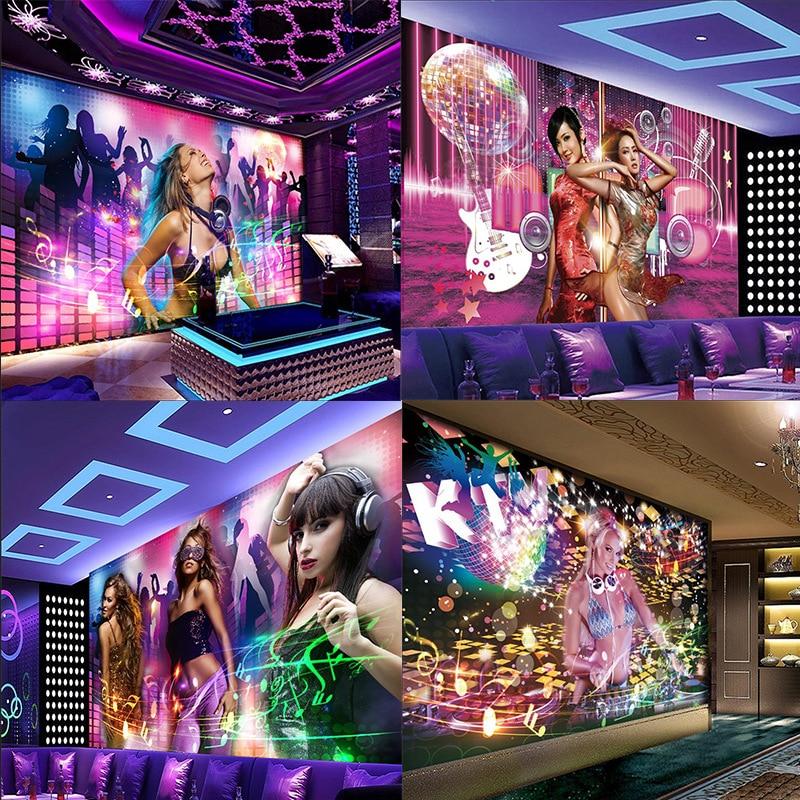 KTV porch corridor room background large mural wallpaper bar nightclub meeting decoration colorful beauty custom