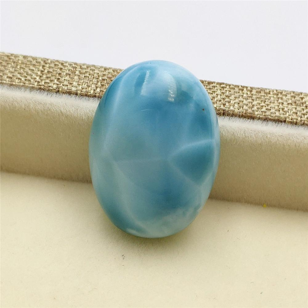 Top Quality Natural Blue Larimar Gemstone Women Water Pattern Pendant 20x15x8mm Best Gift From Dominica Fashion Pendant AAAAA in Pendants from Jewelry Accessories