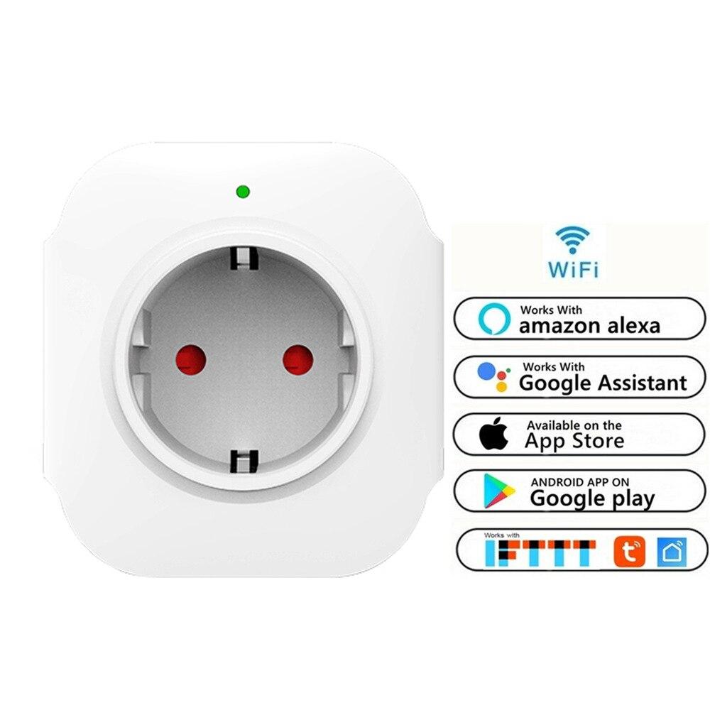 Enchufe inteligente con WiFi EU (F), funciona con IFTTT Alexa Google, Control de aplicación de enchufe inalámbrico con puerto de carga USB de 5V 2.1A 50 Uds 6,3 doble curva inserto pcb soldadura terminal inserto cobre estañado enchufe macho terminal