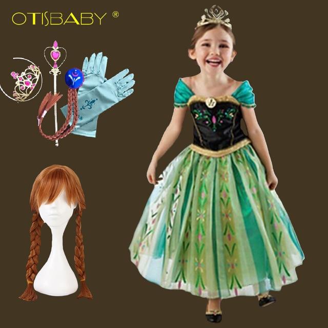 db47fef930aeb Summer 2018 Kids Anna Elsa Snow Queen Princess Costume Children Birthday  Party Tulle Dress Halloween Christmas Rapunzel Costume