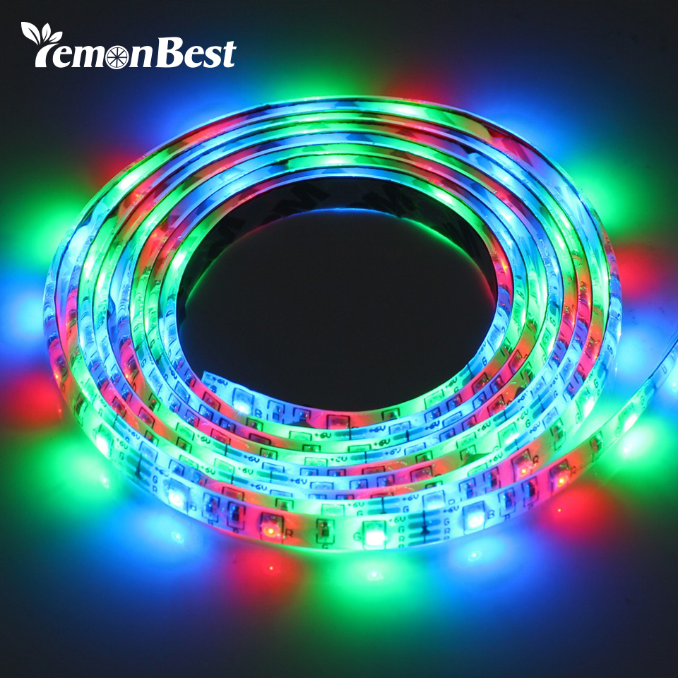 Rgb Usb Led Strip Light String Lamp Waterproof 5v 3528 Smd 50cm 100cm 200cm Led