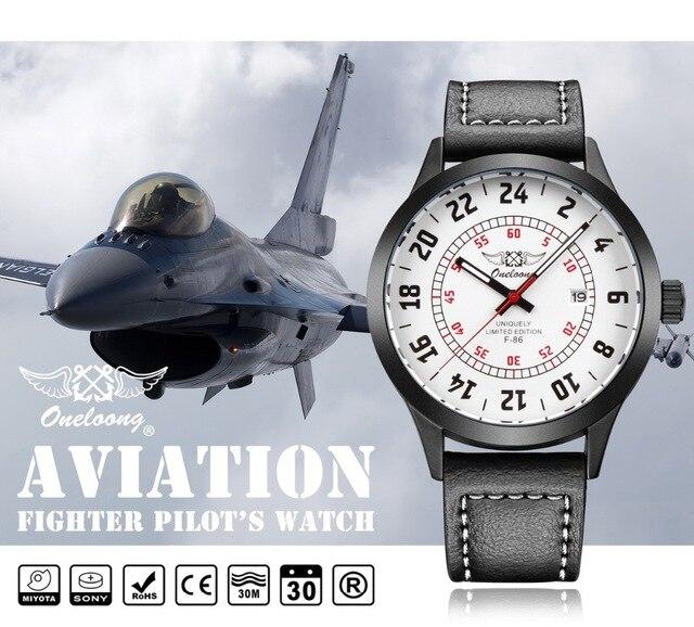 Aviator Watch top sports brand ONELOONG pilot watch Aviador Relogio Men Military