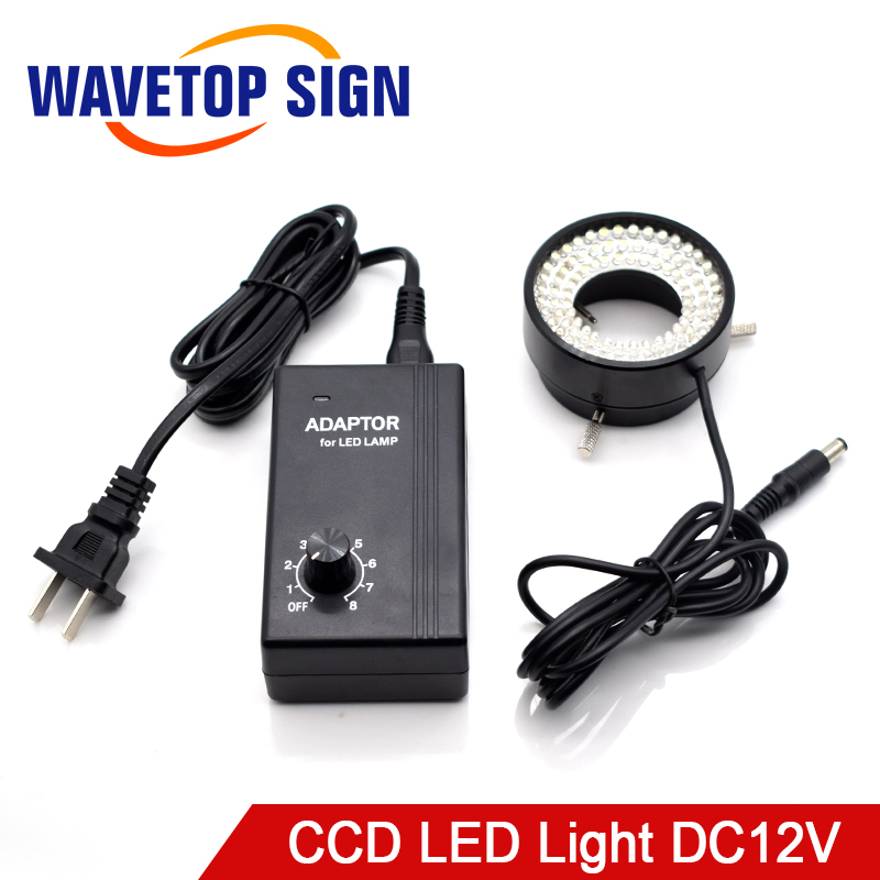 Industrial Camera CCD Visual Light Source LED Ring Machine Vision Light Source Inner Dia.50mm 96Lamp Beads DC12V CCD LED