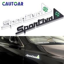 Adesivo emblema para o carro da alfa romeo, etiqueta 3d de metal esportiva atrefoil delta para alfa romeo 4c 8c 156 166 159 giulietta aranha gt