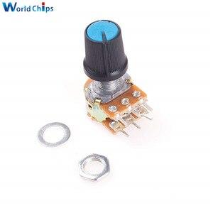 diymore 1pcs WH148 Potentiometer Resistor B10K 10K 6Pin Linear Taper Rotary Potentiometer for Arduino with Cap