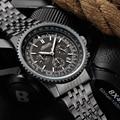 Watches Men JEDIR Famous Brand Black Stainless Steel Quartz-Watch Mens Sport Chronograph Date Clock relogio masculino 2016