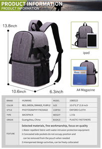 Image 3 - Waterproof Camera Bag Photo Photography Backpack For Polaroid Canon Nikon Sony DSLR Shoot Cameras Portable Travel Pouch Bags