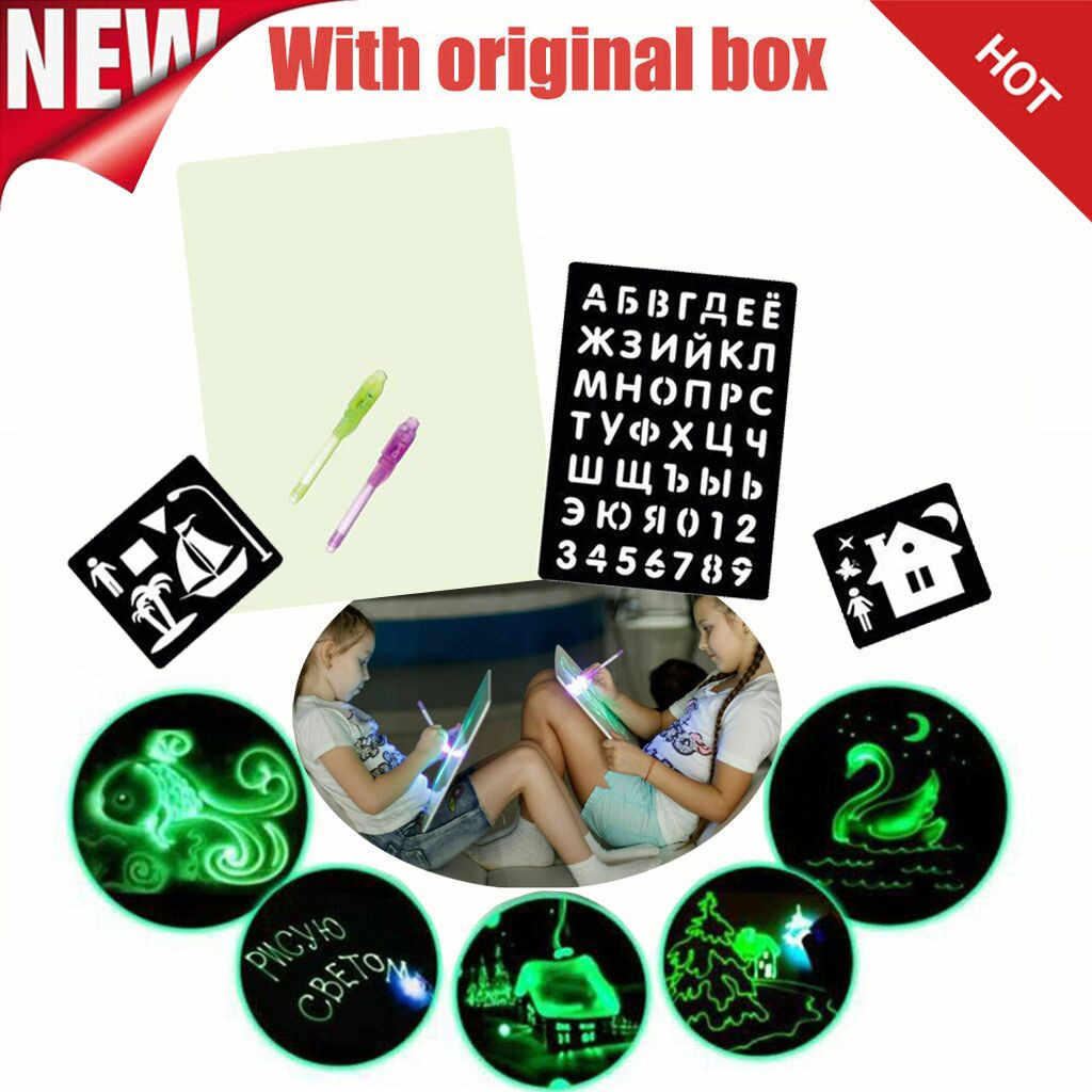 Draw With Light Children's Illuminate Drawing Board Glowing Paint Glow Light Tablet Fun And Developing glowing Drawing Toy