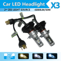 H4 H7 H13 H11 9005 9006 LED Headlight Conversion Kit All In One Car LED Headlights X3 Bulb Head Lamp Fog Light 3000K 6500K 8000K