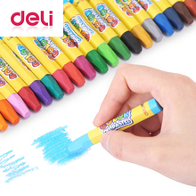 Deli 18 Colors/box oil pastel 6962 odorless non-toxic Oil pastels Sticky colorful childrens hexagonal crayons