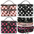 Dot Design Portable Big Capacity Waterproof Bag Travelling Wash Bag Hanging Toiletry Kit Make Up Storage Cosmetic Bags