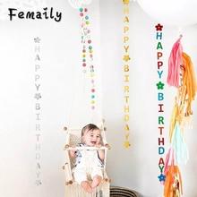 1pcs happy birthday balloon ribbon wedding party decoration DIY accessories Valentines Day Decoracion baby shower