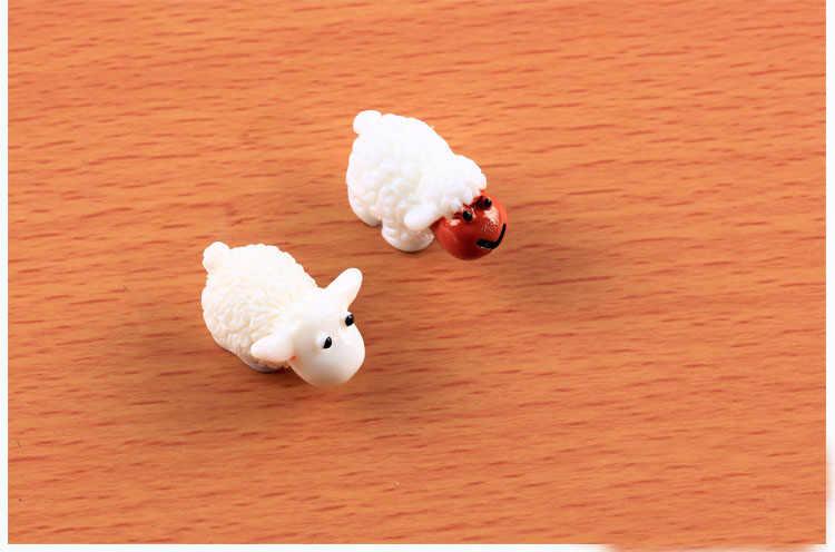 Bonito Mini Ovelhas Resina Artesanato Casa Decorativo 2018 Moda Artificial Estatueta De Fadas Jardim Miniaturas Micro Paisagem 2 Pcs