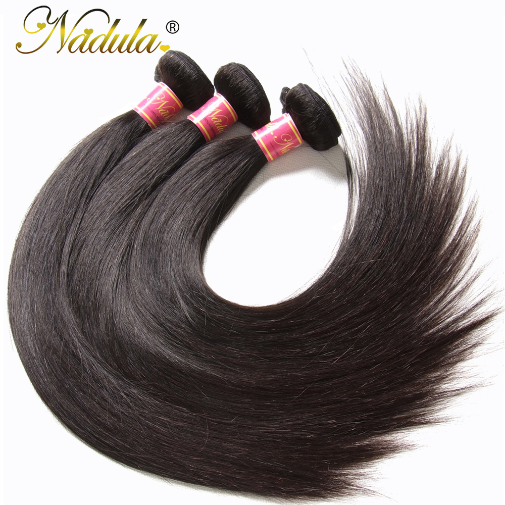 Nadula Hair 3piece Lot Malaysian Straight Hair Extensions 8 30inch Hair Weaves Natural Color Remy Hair