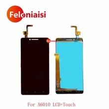 Продажа Высокое Качество 5,0 «для lenovo A6010 Полный ЖК-Дисплей с Сенсорный экран планшета Сенсор Панель Ассамблеи полный черный