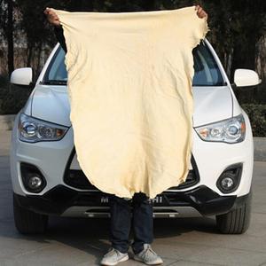 Image 2 - اضافية كبيرة السيارات السيارات التجفيف الطبيعي الشامواه (45x55 سنتيمتر تقريبا) Deerskin تنظيف الشامواه الجلود القماش
