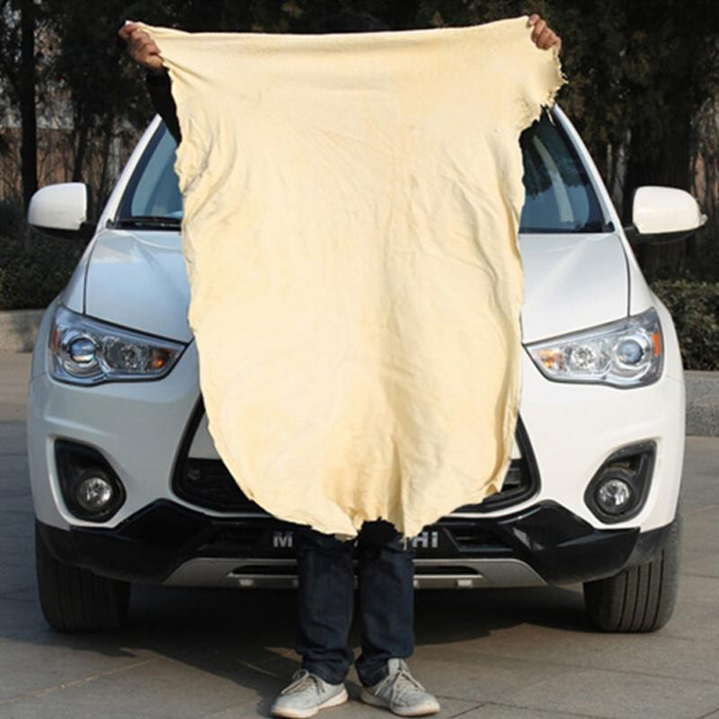 Image 3 - Auto Care Extra Large Auto Car Natural Drying Chamois (45x55cm approx) Deerskin Cleaning Cham Leather Cloth-in Sponges, Cloths & Brushes from Automobiles & Motorcycles