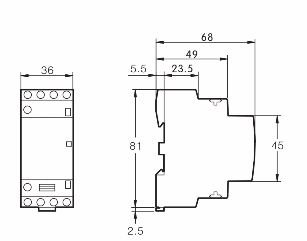 TOCT1 4P 25A 2NC 2NO 220 V/230 V 50/60HZ Din rail бытовой ac Контактор В соответствии с стандартом