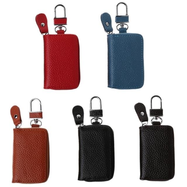b985ba3a99ff US $2.85 11% OFF|Men Women Leather Car Key Holder Keychain Wallet Case  Pouch Purse Keys Bag-in Key Wallets from Luggage & Bags on Aliexpress.com |  ...
