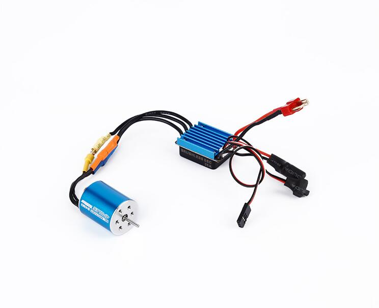 цена на Free Shipping BL MOTOR 2430 4POLES 7200KV Brushless motor+Sensorless brushless ESC 25A speed controller for 1/18 RC Car model