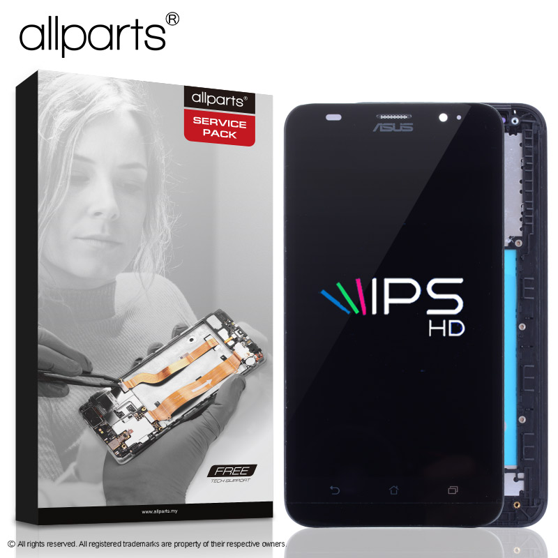 5,5'' NUEVO Original pantalla para ASUS Zenfone 2 ZE551ML LCD Tactil Completa Display táctil Écran para ZE551ML Z00AD pantalla LCD con marco Digitalizador reemplazo Negro