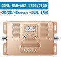 2G 3G CDMA 850MHz 4G AWS 1700 2100mhz двухдиапазонный усилитель сигнала сотового телефона 70dB ЖК-дисплей 3G мобильный телефон усилитель 4G повторитель