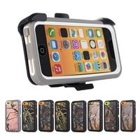 Bos Camo Zware Case voor iPhone 5C Shockproof Full Body Bescherming Cover Met ingebouwde Screen Protector Riem Clip