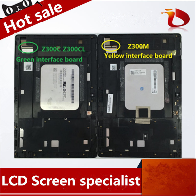 New original For Asus zenpad 10 Z300M P00C LCD Display +Touch Screen Digitizer Assembly yellow connector asus original lcd display touch screen assembly replacement part for asus zenpad c 7 0 z170mg z170 mg lcd screen for asus z170mg