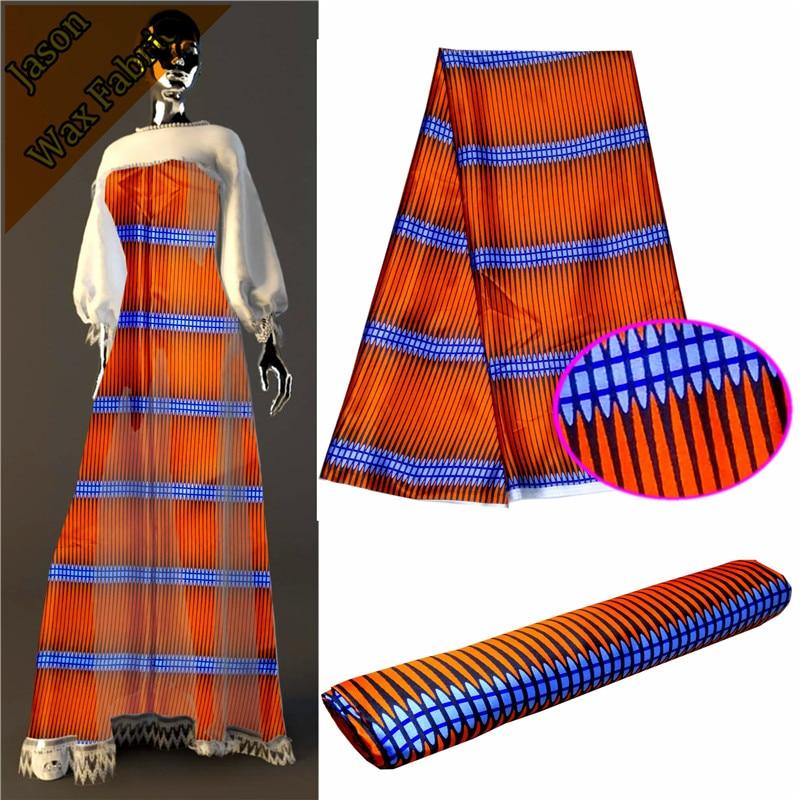 Wedding Satin Fabric 5 Yard/lot 100% Polyester Orange Satin Printed Fabric for Sewing Wedding Party Decoration LBL
