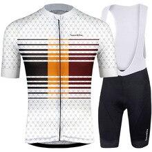 цена на 2019 RUNCHITA cycling jersey short sleeves set cycling clothing sportswear outdoor men mtb ropa ciclismo bike Cycling Jersey Set
